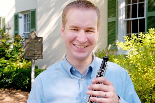 Dr. Bret Pimentel, assistant professor of woodwinds, presents a faculty recital Aug. 28 at 7:30 p.m. in the Recital Hall of the Bologna Performing Arts Center.