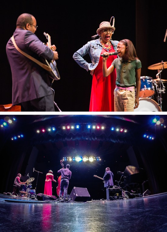 Dee Dee Bridgewater (top center), a multiple GRAMMY-winning recording artist, was featured today at the Bologna Performing Arts Center for a performance by the Thelonious Monk Institute of Jazz.