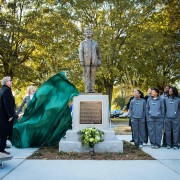 Hundreds of Delta State faithful celebrated the official Margaret Wade statue dedication Friday outside Walter Sillers Coliseum.