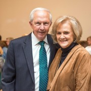 President Emeritus Dr. Kent Wyatt and former First Lady Janice Wyatt were surprised with a ceremony Saturday honoring their 50 years of service at Delta State University.