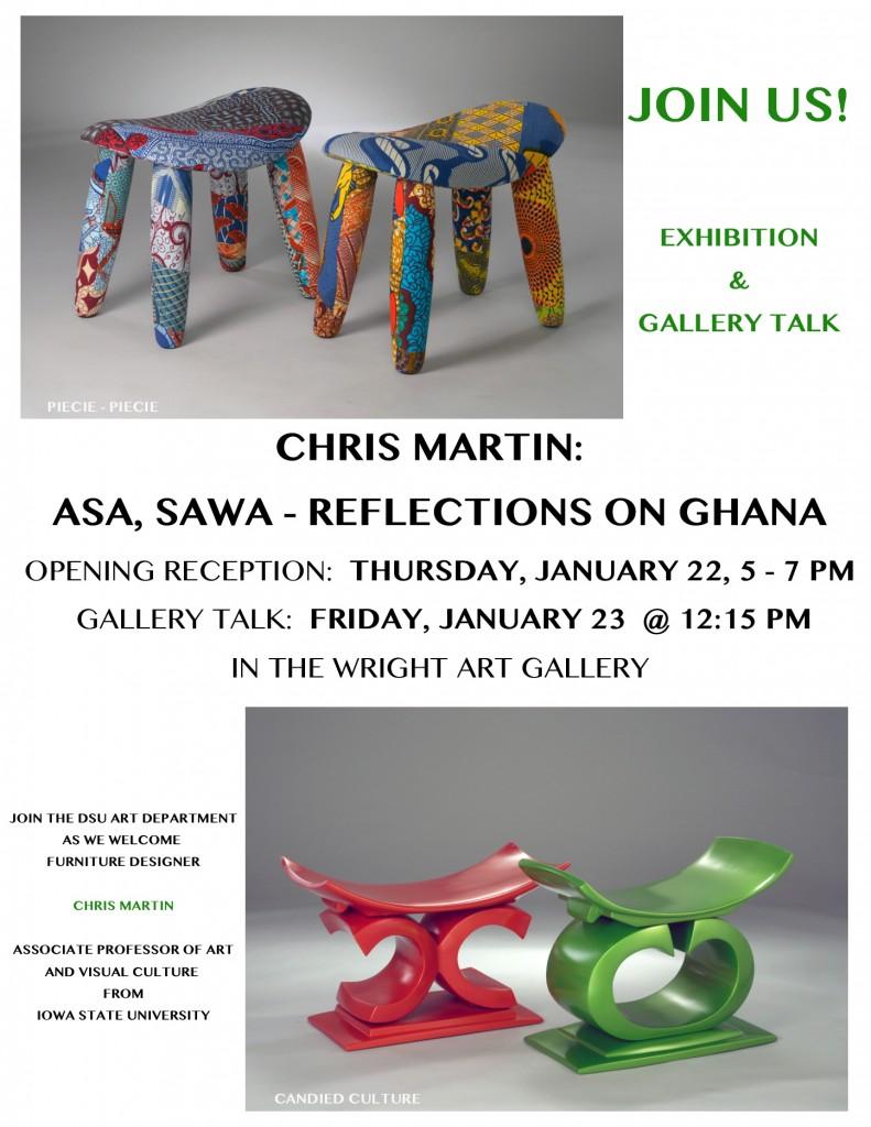 Chris Martin - Asa Sawa Exhibition