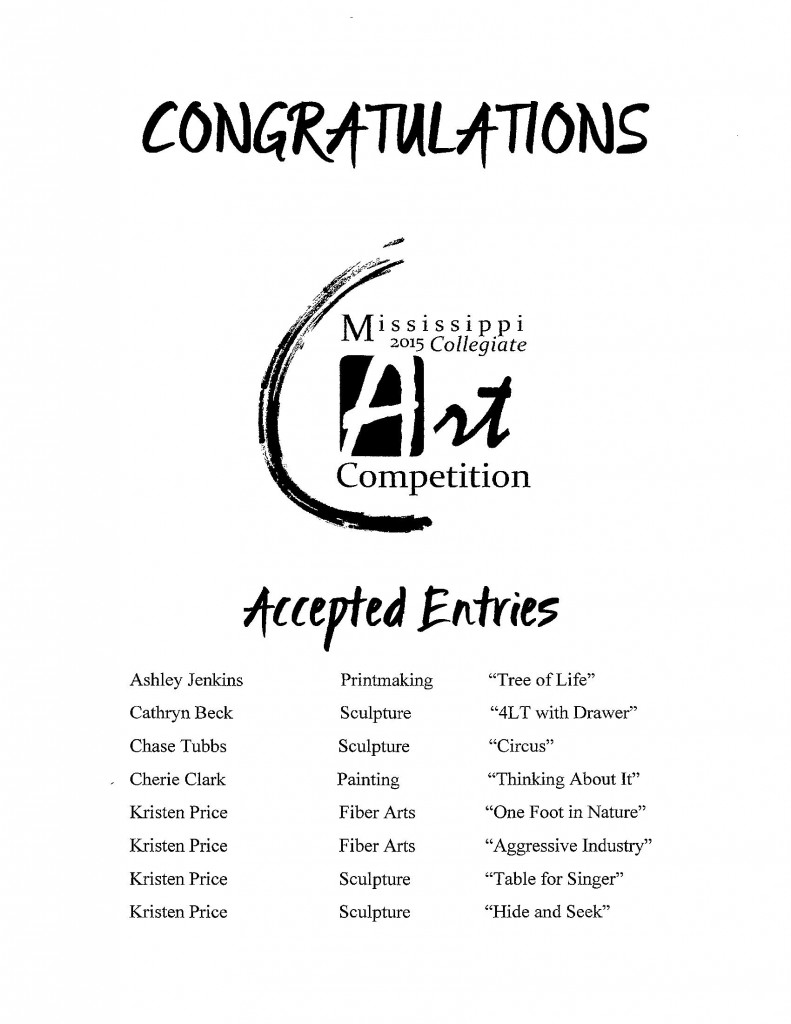Collegiate Show Accepted Entries[2]