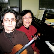 The Department of Music presents a faculty recital with Anne-Gaëlle Ravetto (left) and Dr. Jung-Won Shin March 3 at 7:30 p.m. in the Recital Hall of the Bologna Performing Arts Center.