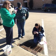 Environmental science students recently assessed storm drains on Delta State's campus.