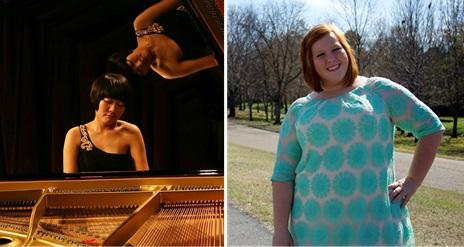 Minji Kim (left) and Alanna Burns will present recitals April 16, beginning at 1:30 p.m. in the Recital hall at the BPAC.