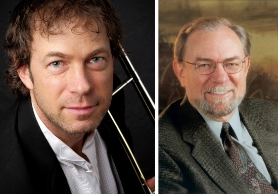 "Delta State alumnus Dr. Doug Scarborough (left), and his uncle and composer Dr. Samuel Jones, recently collaborated with  Whitman College and Walla Walla Symphony for a five-day music festival called ""Music 360: 'Looking Back…Reaching Forward: The Music of Samuel Jones."""