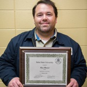 Brian Sherwood, HVAC technician, was recently honored as the February 2015 Delta State University Employee of the Month.