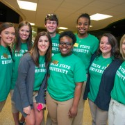 Members of the Delta Diplomats provided campus tours during Go Green Weekend to potential Delta State students. Festivities also included the annual Spring Visit Day hosted by the Office of Admissions.