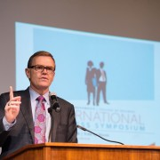 Delta State graduate and CEO of UPS, David Abney, welcomes campus to the  10th annual International Business Symposium April 1 at 8 a.m. in the Baioni Conference Center.