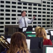 Delta State University's provost and vice president of Academic Affairs, Dr. Charles McAdams, recently directed rehearsal for the Delta State Wind Ensemble.