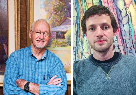 Sammy Britt (left), former professor of painting and drawing at Delta State, and alumnus Brandon Moon '03, will both receive awards from The Mississippi Institute of Arts and Letters June 6 at the Lake Terrace Convention Center in Hattiesburg.