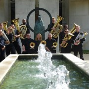 Delta State Low Brass Ensemble, pictured here, and the Okra Rangers Brass Quintet will be featured in An Evening of Brass Ensemble Music at 7:30 p.m. April 14 in the Recital Hall of the Bologna Performing Arts Center.
