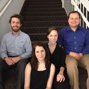 Caleb Hollingsworth (l to r), Sara Crider, Monica Ely and Rory Young will peform for the Department of Music's Honors Recital at 7:30 p.m. April 13 in the Delta and Pine Land Theatre. Also performing but missing from the photo is Minji Kim.