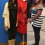 Student Ashton Roach, left, recently won first place in the Apparel Design competition  at the Mississippi Association of Family and Consumer Sciences conference. Shanice Cox received third place in the same category.