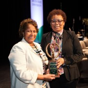 Clark received prestigious Diversity Award this spring.