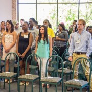 The inaugural group of Okra Scholars were recently honored for their participation in the new program.