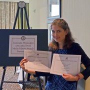Elisabetta Zengaro, editor-in-chief of The Delta Statement, recently accepted two awards on behalf of Delta State at the 2015 Louisiana/Mississippi Associated Press Media Editors Contest: College Division.