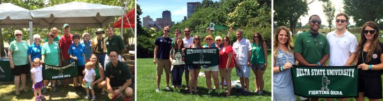 The Delta State University Alumni Association traveled with staff this summer to attend Mississippi picnics in Atlanta, New York City,  and Washington, D.C.