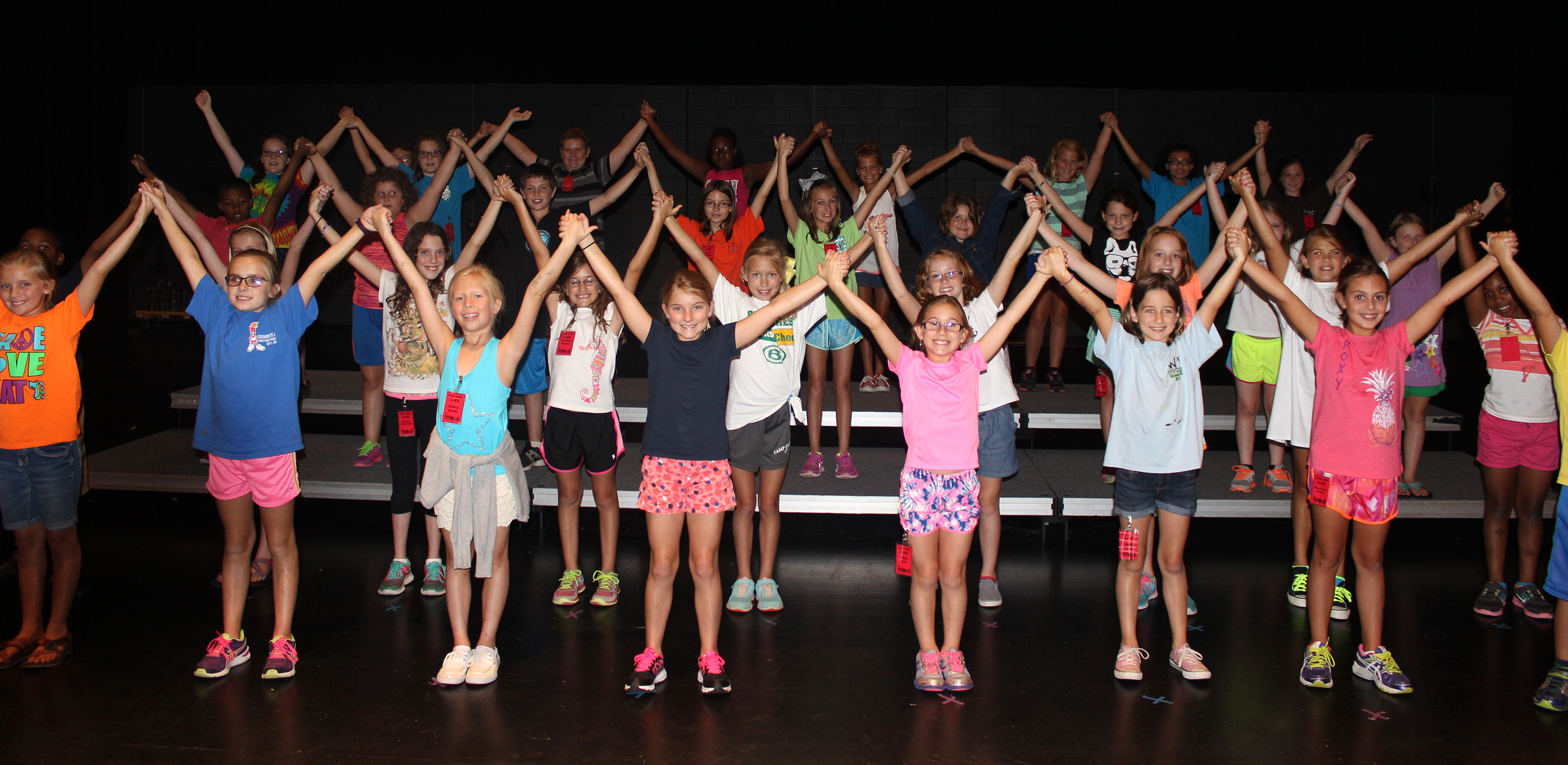 MSAI PLUS Campers are all smiles as they rehearse on the BPAC main stage for their final performance July 18 at 10 a.m.