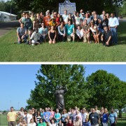 "In total, 72 K-12 teachers from across the nation took part in this summer's ""Most Southern Place on Earth"" workshops. Photos by Amy Kramer and Brady Gilliam."