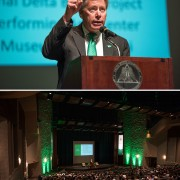 "Delta State University  President William N. LaForge said the university is ""solid and progressing quite well"" in today's State of the University address."