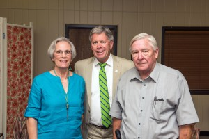 Alumnus J. Boyd Ingram '64 (right) and his wife Carol joined President William N. Laforge when Ingram announced he would donate and purchase equipment to help make the station a reality.