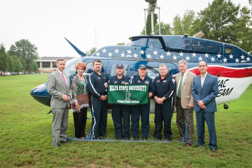Air Evac Lifeteam #87 recently renewed their membership as an Okra Level Corporate Sponsor with the Delta State University National Alumni Association.
