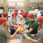Delta State faculty, staff, students and alumni packed over 101,000 non-perishable meals on Tuesday to be delivered to children across the United States.