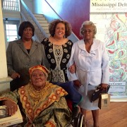 Alysia Burton Steele, center, with Delta Jewels church mothers at a Delta Jewels Community Gathering in Yazoo City. Mississippi Valley State University will host the inaugural Delta Jewels Oral History Partnership program on Oct. 29 as part of the university's Zelma T. Howard Lecture Series.
