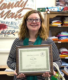 Heather Miller, with the Delta Center for Culture and Learning, was named the September 2015 Employee of the Month.