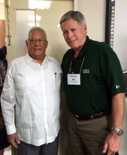 President William N. LaForge (right) recently met with Dr. Rodolfo Alarcón Ortiz, Minister of Higher Education in Cuba, as part of an American delegation discussing future partnerships and exchanges with Cuban institutions of higher education.