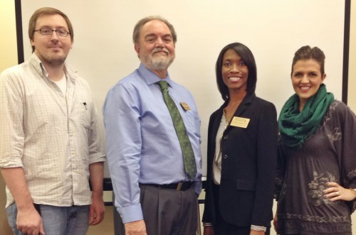 Dr. Bryon Pickens (l to r), Dr. George Beals, Dr. Temika Simmons and Cat Vincent.