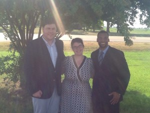 Dr. Otis Pickett (l to r), Owen and Dr. Patrick Elliot Alexander.
