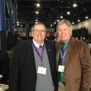 Dr. John Hilpert (left), president emeritus of Delta State, and President William N. LaForge at the SACSCOC conference in Houston Dec. 7.