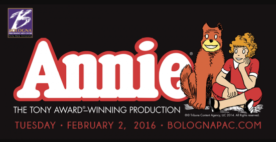 "The national tour of the Broadway musical ""Annie"" plays at the Bologna Performing Arts Center on Feb. 2. Tickets are available at 662-846-4626."