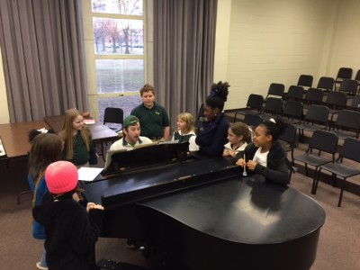 Delta State University music department alumnus Johnathan Williams works with The Delta Youth Chorale.