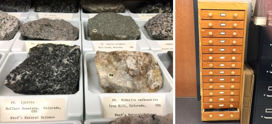 Dr. Ronald Brister, former geology and paleontology curator of the Memphis Pink Palace Museum, recently donated his large rock collection to the Delta State University environmental science program.