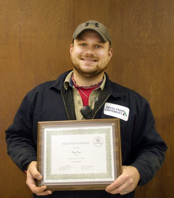 Trey Goss was honored as the December 2015 Employee of the Month.