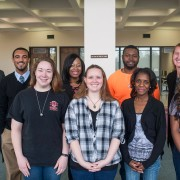 Members of The Delta Statement online version include: (front, l to r) Katherine White, Rebecca Carroll, Jontil Coleman, Alecia Wilson, (back l to r) Micheal Smith (advisor), Najawon Wilson, Aallyah Wright, Sheldon Ransom and Adrienne Berard (advisor). Missing from the picture are Gared Watkins and Jimmiera Chillis.