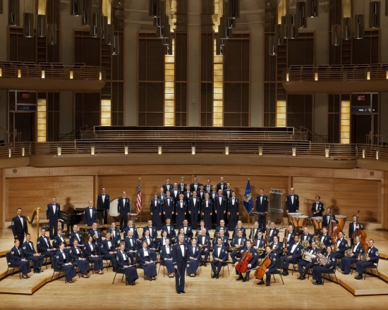 The U.S. Air Force Concert Band and Singing Sergeants will present a free concert April 13 at the Bologna Performing Arts Center.
