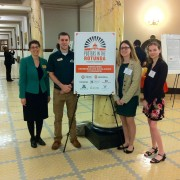 Dr. Ellen Green (left to right), Brian Barnett, Rebekah Napier-Johnson and Christine Beck recently participated in Posters in the Rotunda at the State Capitol.