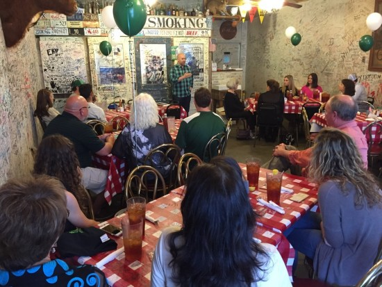 Alumnus Josh West '05  recently spoke to future Delta State students at a DSU Family Dinner.