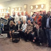 After learning about the new blues studies program at Delta State, a group of Swedish music enthusiasts gathered at the Cast of Blues exhibit at The Delta Center for Culture and Learning.