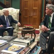 President William N. LaForge (right) recently visited with Senator Thad Cochran and fellow Mississippi lawmakers in Washington, D.C.