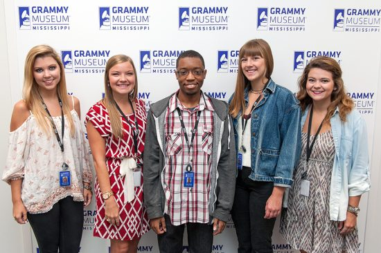 This summer's interns at GRAMMY Museum® Mississippi include: (left to right) Holly Ruth Pitts, Katie Ann Locke, Gregory Braggs, LindseyAnna Pardue and Mary Parker Janoush.