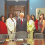 Dr. Rolando Herts (left), director of the Delta Center for Culture and Learning, recently visited Senator Thad Cochran's office with fellow participants in the Delta Leadership Institute's Executive Academy.