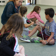 PLUS Campers listen to Carrie Sue Ayvar in one of their five arts classes.