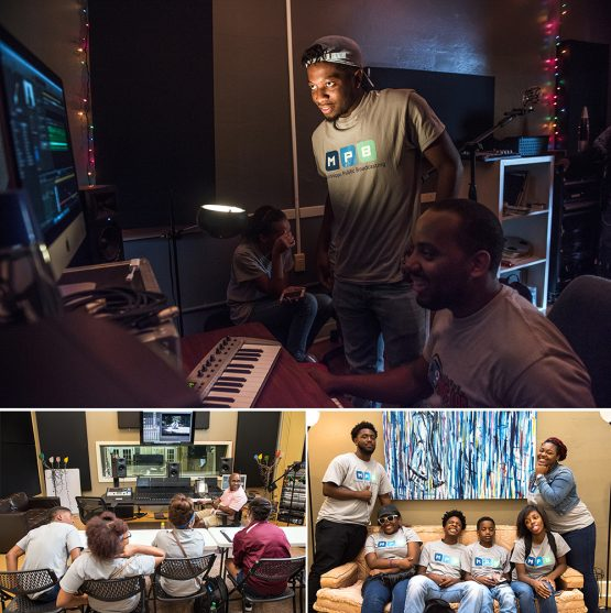 "Students from Mississippi Public Broadcasting's ""Can I Kick It?"" summed Media Institute utilized DMI equipment on Wednesday."