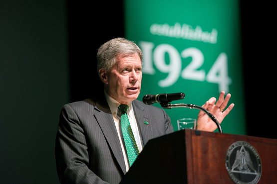 Delta State University President William N. LaForge will deliver the State of the University address Aug. 19 at 10:30 a.m. in the Bologna Performing Arts Center.