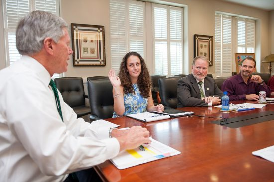 Allie Rose Parker, Student Government Association president, became the first student in Delta State's history to vote on the President's Cabinet on Aug. 22.
